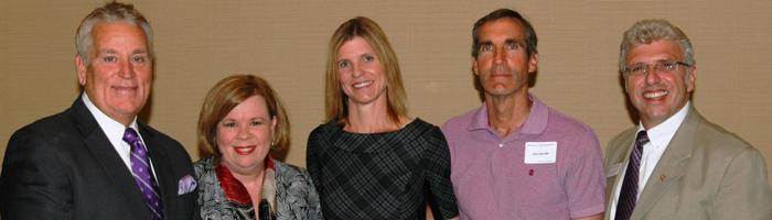 From LtoR:David Stephens, Carol Lewis, Karen Garner, Jim Garner, and Gino Colombara