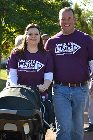Hollie and Chuck Bradley who participate in both the PEN and the WB Walks. Their company, Home Instead, is a National Team.