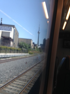 Leaving Toronto going to the airport