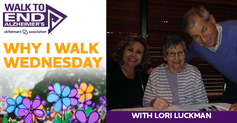 Why I Walk Wednesday- lORI lUCKMAN